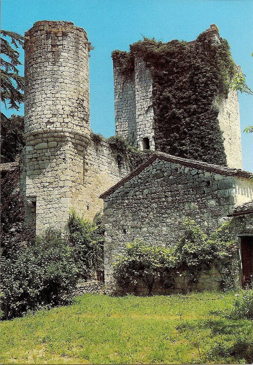 carte postale eymet detail chateau