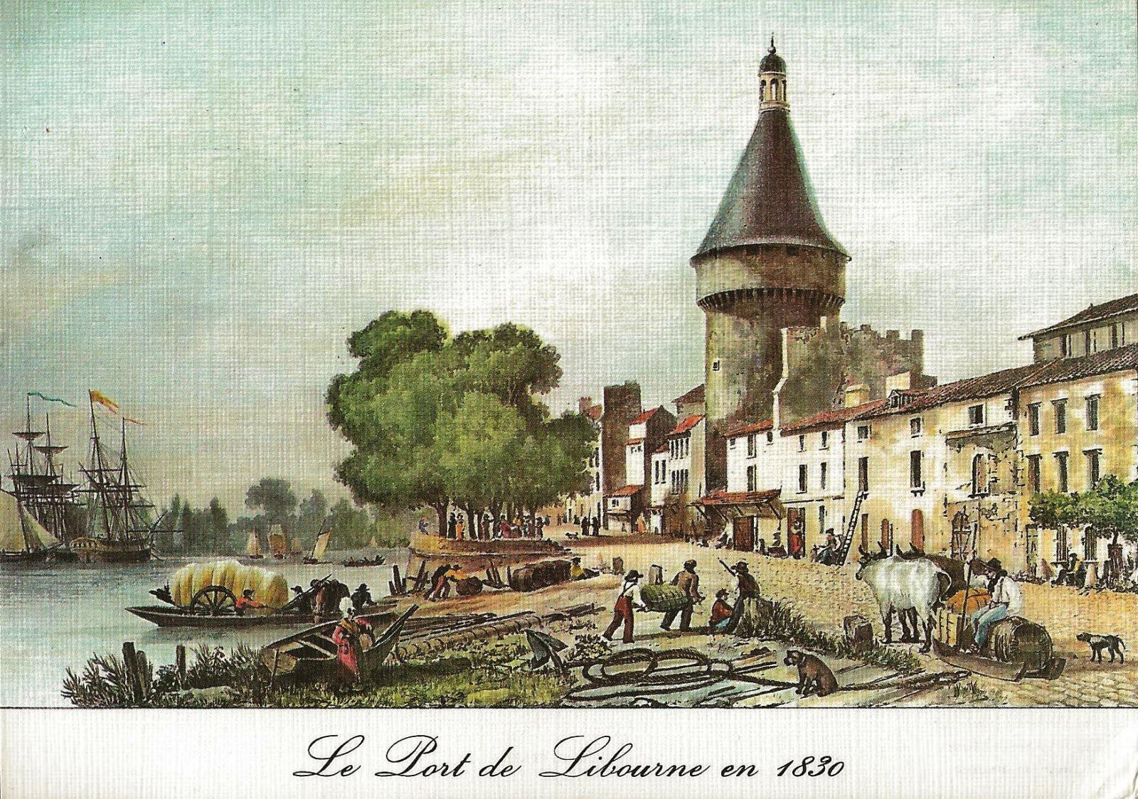 le port de libourne en 1830