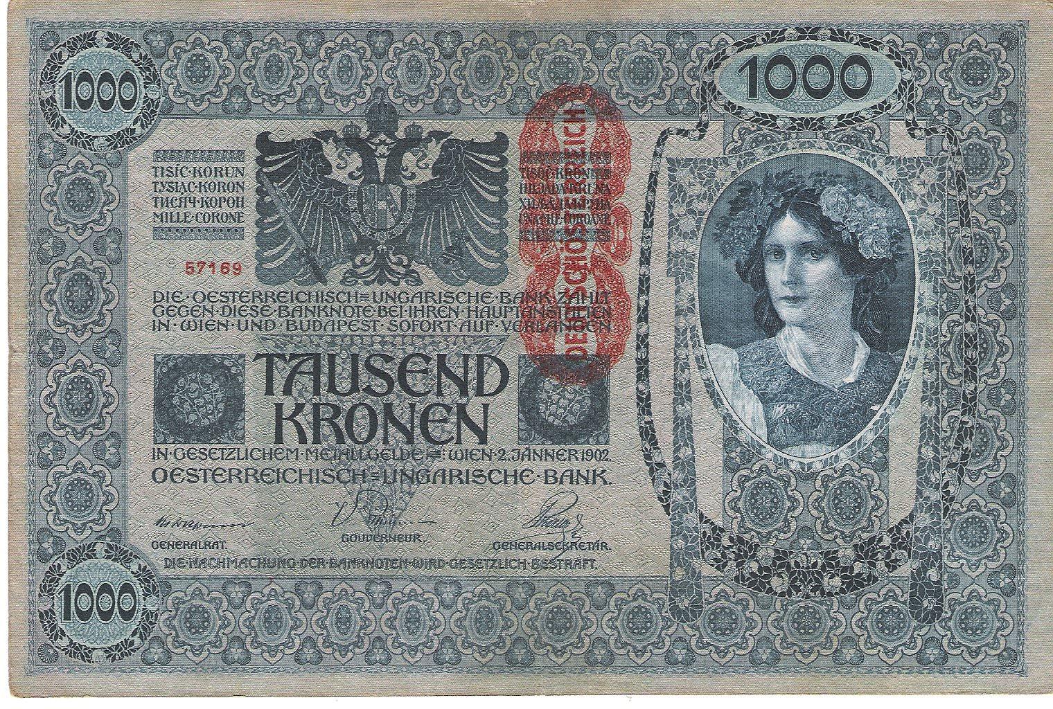 1000 kronen recto