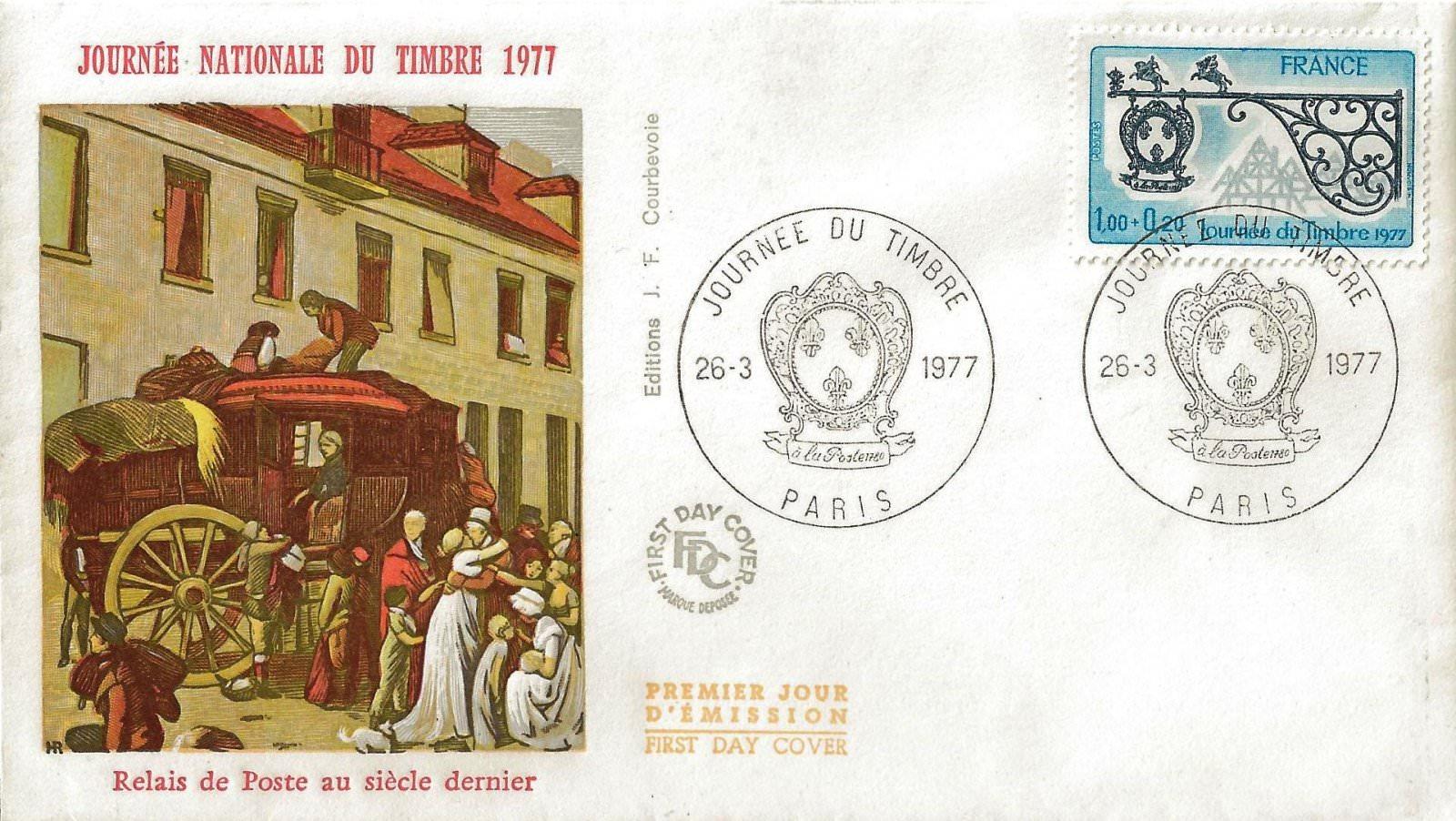 1977 journee du timbre relais de poste