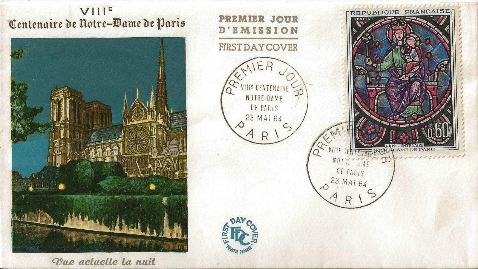 1964 NOTRE DAME DE PARIS LA NUIT