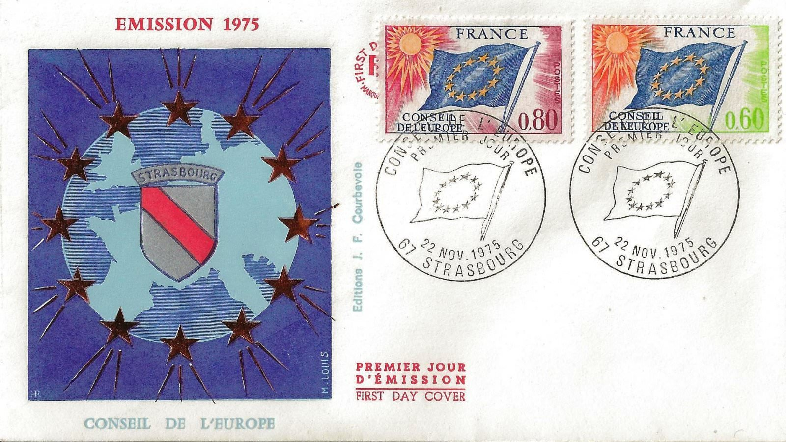 1975 CONSEIL EUROPE 2 TIMBRES