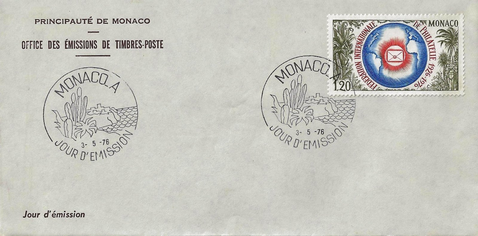 1976 FEDERATION PHILATELIE MONACO