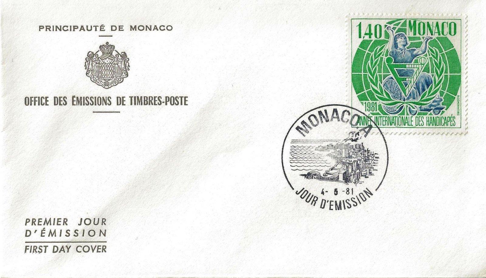 1981 ANNEE DES HANDICAPES MONACO