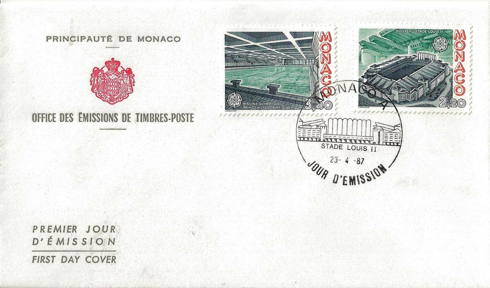 1987 STADE LOUIS II MONACO