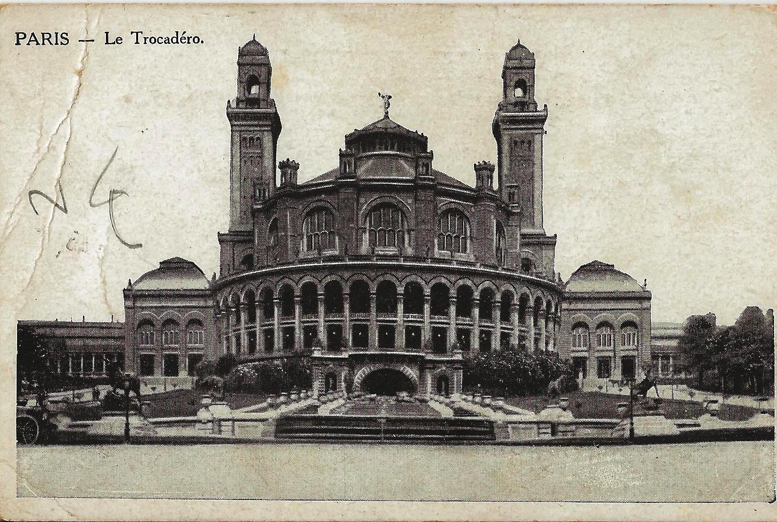 paris trocadero 1916