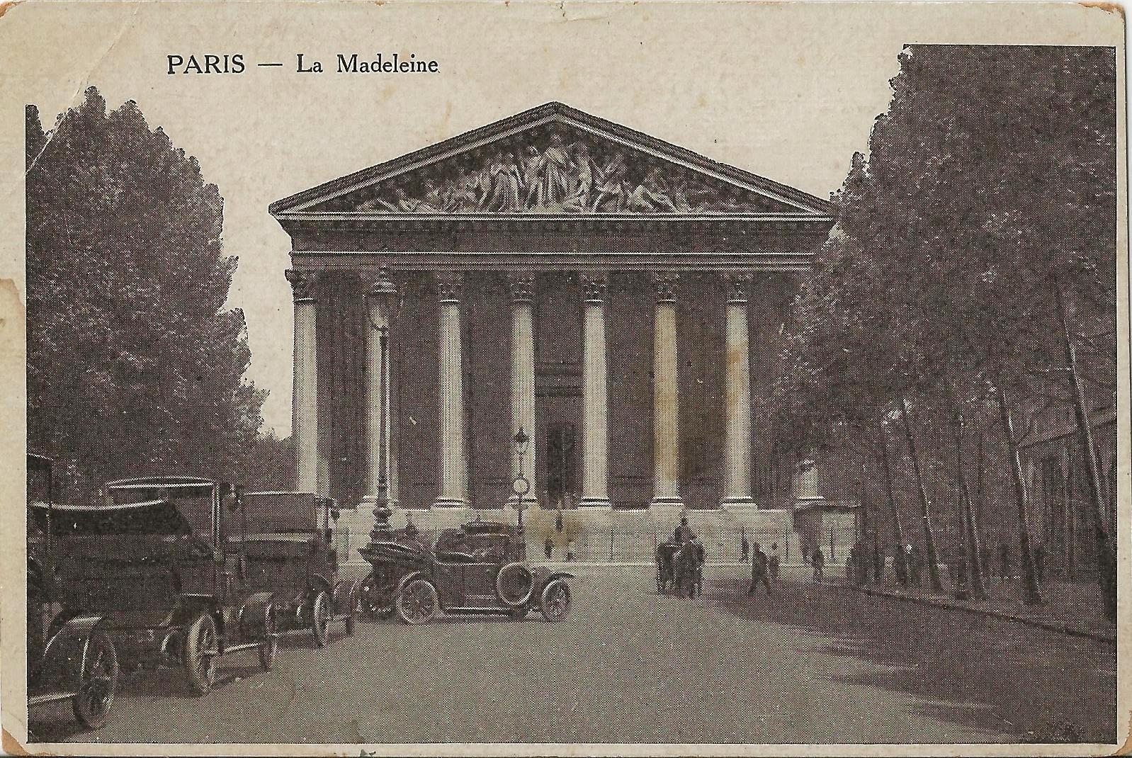 paris la madeleine 1917
