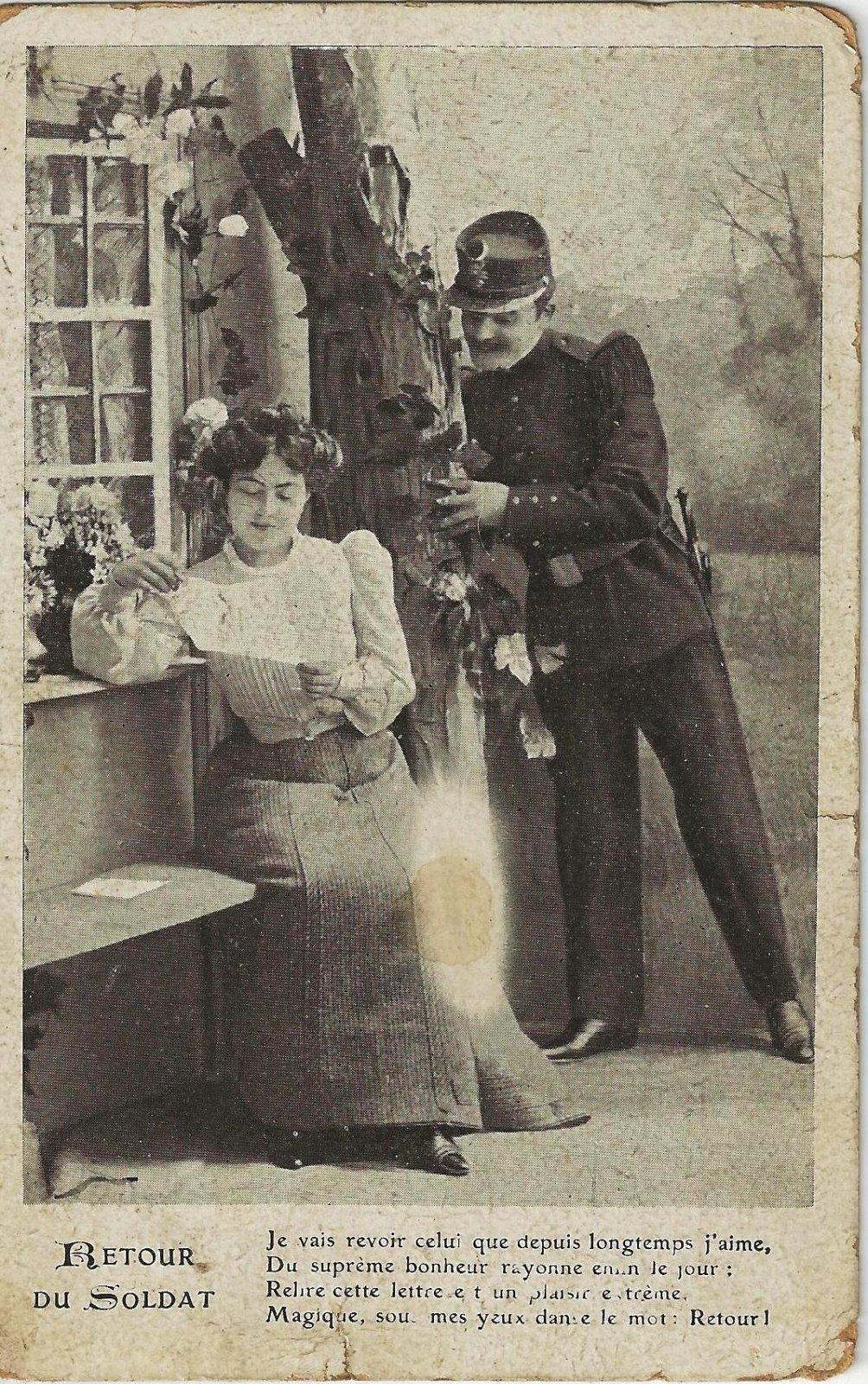 retour du soldat 1907