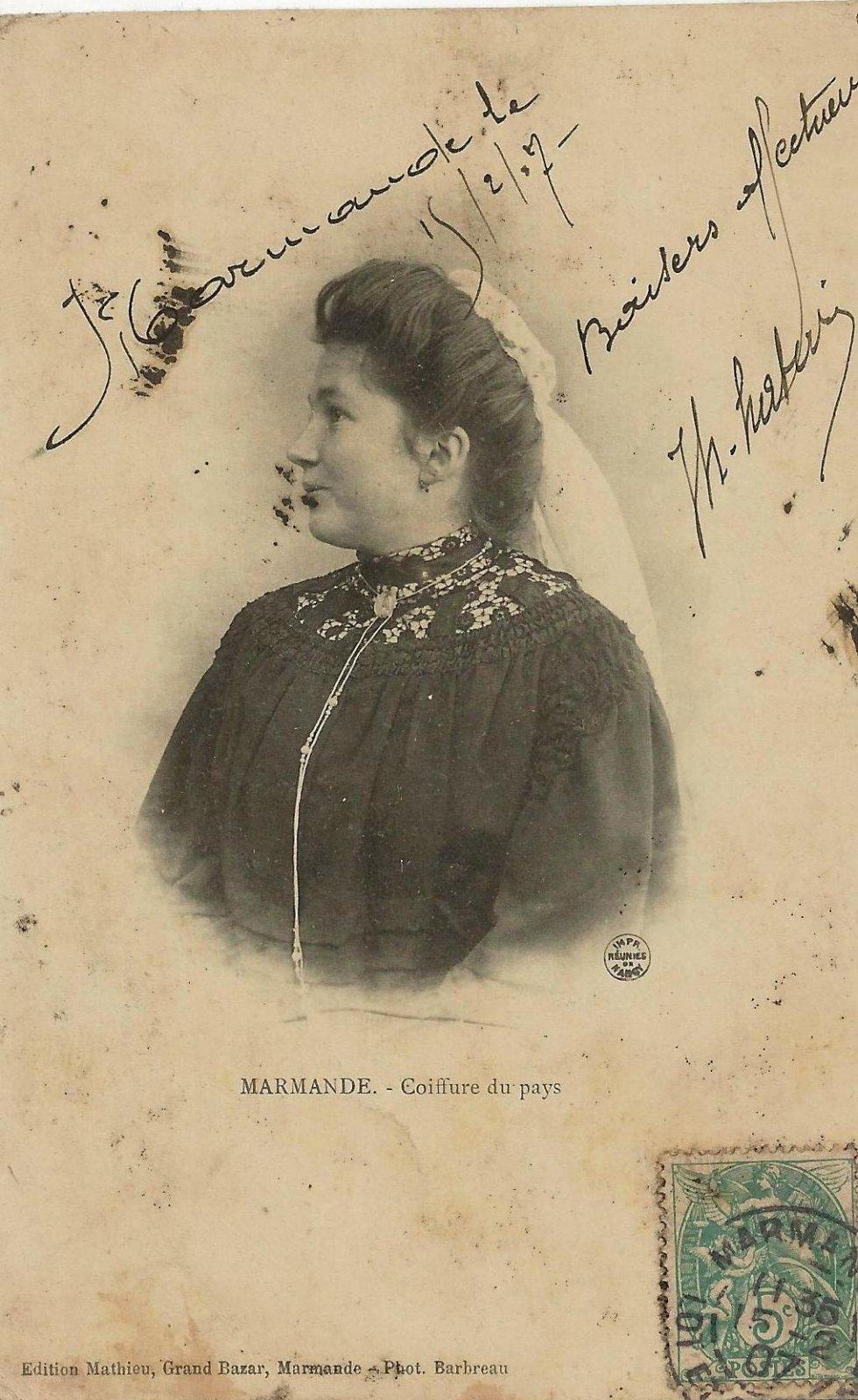 marmande coiffure du pays 1907