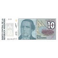 BILLET ARGENTINE 10 AUSTRALES
