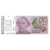 BILLET ARGENTINE 50 AUSTRALES