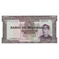 BILLET MOZAMBIQUE 500 ESCUDOS