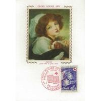 CARTE MAXIMUM 1971 / CROIX ROUGE GREUZE / TOURNUS