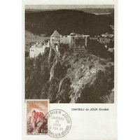 CARTE MAXIMUM 1965 / CHÂTEAU DE JOUX NB / PONTARLIER