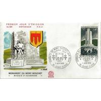 ENVELOPPE ILLUSTRÉE 1er JOUR 1969 / COMBATS DU MONT MOUCHET