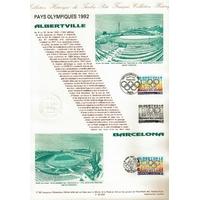 SÉRIE DE 14 DOCUMENTS PHILATÉLIQUES ANNÉE 1992
