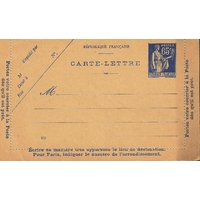 ENTIER POSTAL 65cts FRANCE NEUF N°365CL