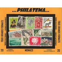 20 TIMBRES MONACO GRANDS FORMATS (Présentation)