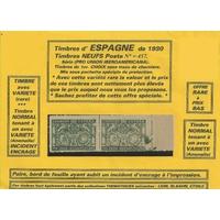 ESPAGNE 1930 NEUFS VARIÉTÉ 2 TIMBRES SÉRIE 2 (Présentation)