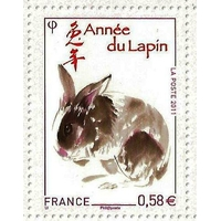 TIMBRE ANNÉE DU LAPIN 2011 NEUF