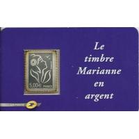 MARIANNE DE LAMOUCHE EN ARGENT AUTOADHÉSIF NEUF 2006 N° YT 3925 / 85
