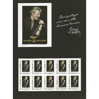 BLOC FEUILLET COLLECTOR JOHNNY HALLYDAY TOUR 66