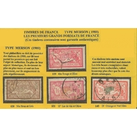 4 TIMBRES DE FRANCE TYPE MERSON