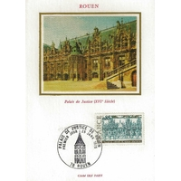 CARTE MAXIMUM 1975 / PALAIS DE JUSTICE DE ROUEN / ROUEN
