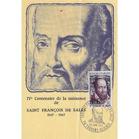 CARTE MAXIMUM 1967 / ST FRANCOIS DE SALLES / THORENS GLIERES