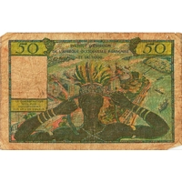 BILLET FRANCE 50 FRANCS AFRIQUE OCCIDENTALE ET TOGO