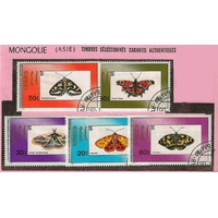 5 PAPILLONS MONGOLIE
