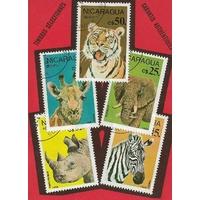 5  ANIMAUX D'AFRIQUE NICARAGUA 1986