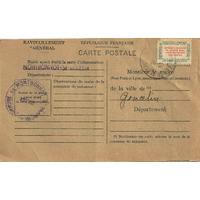 CARTE DE RAVITAILLEMENT 1946