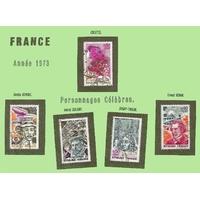 PERSONNAGES CÉLÈBRES 1973 SÉRIE COMPLÈTE FRANCE
