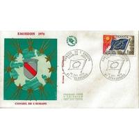 ENVELOPPE ILLUSTREE 1er JOUR 1976 / CONSEIL DE L'EUROPE / STRASBOURG