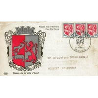 CARTE MAXIMUM 1966 N°2 / BLASON D'AUCH / AUCH