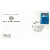 ENVELOPPE 1er JOUR 1981 / PROTECTION DE LA VIE MARINE / MONACO