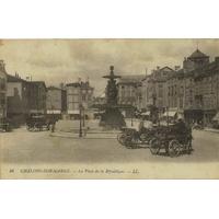 PLACE DE LA RÉPUBLIQUE DE CHALONS SUR MARNE / 1916