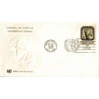 ENVELOPPE 1er JOUR 1959 / CONSEIL DE TUTELLE 8C / NATIONS UNIES NEW YORK