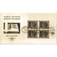 ENVELOPPE 1er JOUR 1960 / 15ème ANNIVERSAIRE DES NATIONS UNIES BLOC 8C / NATIONS UNIES NEW YORK