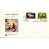 ENVELOPPE 1er JOUR 1961 / COMMISSION ECONOMIQUE POUR L'AFRIQUE 2 TIMBRES / NATIONS UNIES NEW YORK