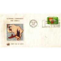 ENVELOPPE 1er JOUR 1961 / COMMISSION ECONOMIQUE POUR L'AFRIQUE 11C / NATIONS UNIES NEW YORK