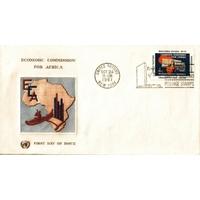 ENVELOPPE 1er JOUR 1961 / COMMISSION ECONOMIQUE POUR L'AFRIQUE 4C / NATIONS UNIES NEW YORK