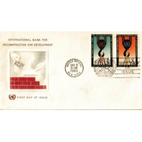 ENVELOPPE 1er JOUR 1960 / BANQUE INTERNATIONALE POUR LA RECONSTRUCTION ET LE DEVELOPPEMENT / NATIONS UNIES NEW YORK