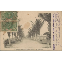 BOULEVARD DE GRAND LAHOU COTE D'IVOIRE / 1907