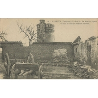 CARENCY LE MOULIN TOPART APRES LES COMBATS / 1915