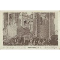 HEBUTERNE LES RUINES DE L'EGLISE / 1915