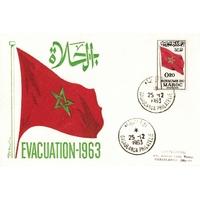 ENVELOPPE COMMEMORATIVE 1963 / EVACUATION 1963 / MAROC