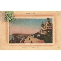 MONTE CARLO LE CASINO ET LES TERRASSES / 1913