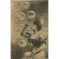 BONNE ANNEE 1905 ECRITE SUR LA FACE